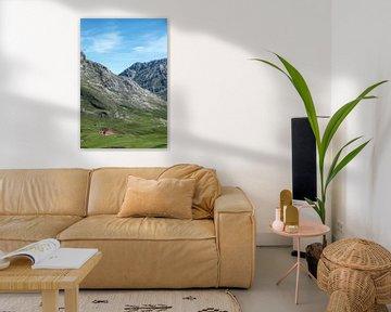 Afgelegen boerderij op ruim 2 kilometer hoogte in de Picos de Europa, Noord Spanje van Harrie Muis