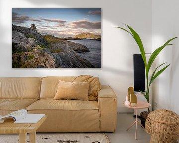 Fjordenblik, Lofoten in Noorwegen van Jolanda van Straaten