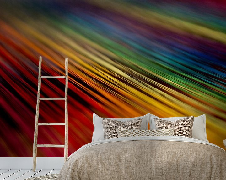 Sfeerimpressie behang: Kleuren weven van Ton van Buuren