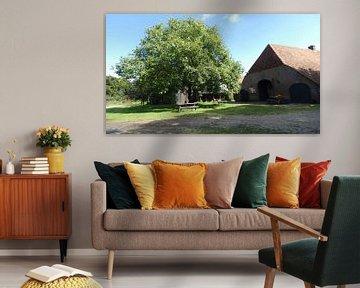 Rote Pfannen Bauernhof Ede von Wilbert Van Veldhuizen