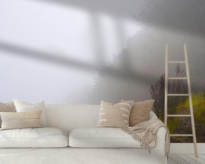 Sfeerimpressie behang: MAGIC IN THE MIST van Ernst van Voorst