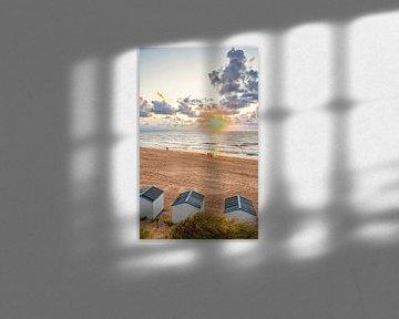 Zonsondergang op het strand van de Koog op Texel / Sunset in de Koog on Texel beach von Justin Sinner Pictures ( Fotograaf op Texel)