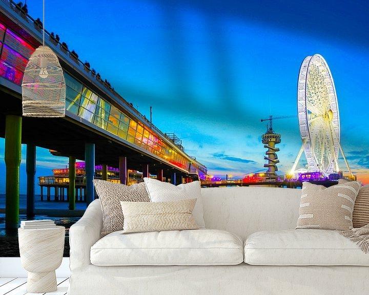 Sfeerimpressie behang: Scheveningen Reuzenrad op de Pier Boulevard  van Dexter Reijsmeijer