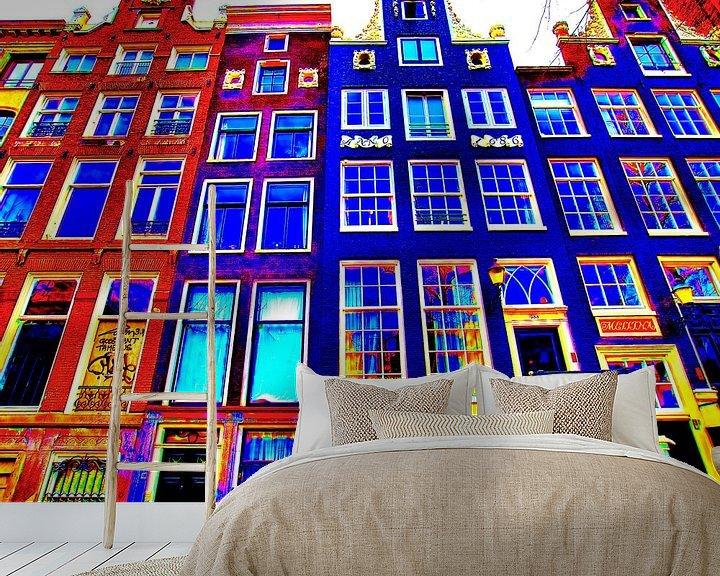 Sfeerimpressie behang: Colorful Amsterdam #114 van Theo van der Genugten
