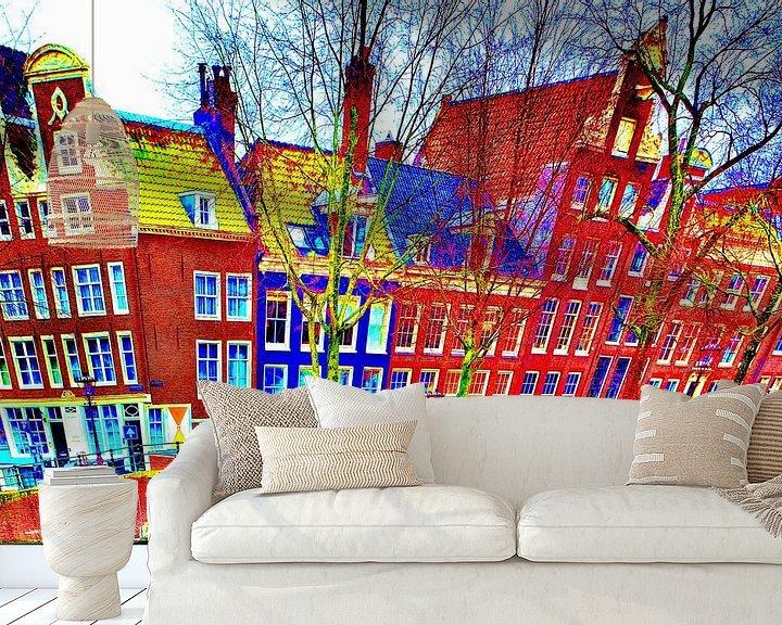 Sfeerimpressie behang: Colorful Amsterdam #112 van Theo van der Genugten
