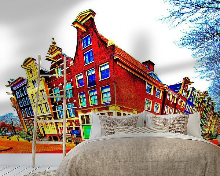 Sfeerimpressie behang: Colorful Amsterdam #117 van Theo van der Genugten
