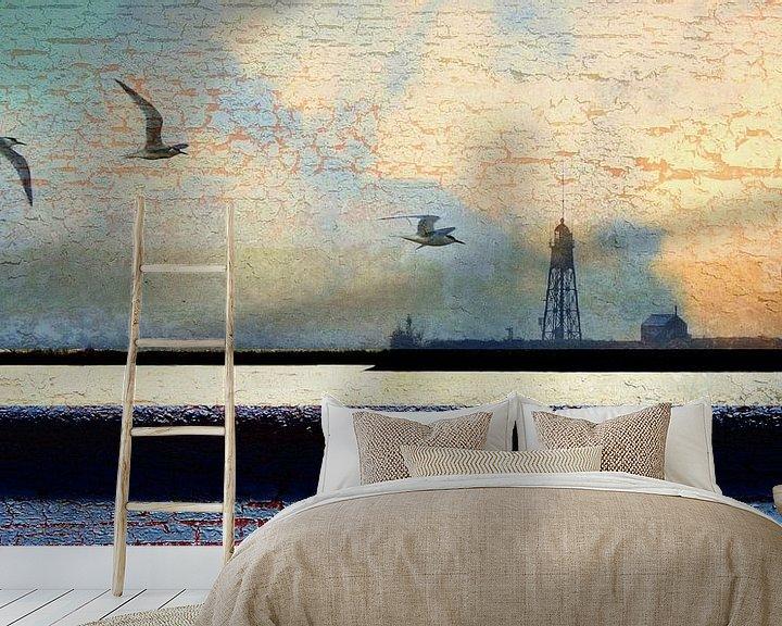 Sfeerimpressie behang:  Noord-Hollands landschap van Ger Veuger