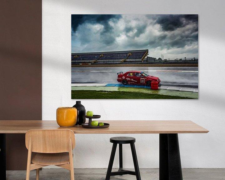 Beispiel: Renner Alfa Romeo 155 im Regen auf TT-Rennstrecke Assen von autofotografie nederland