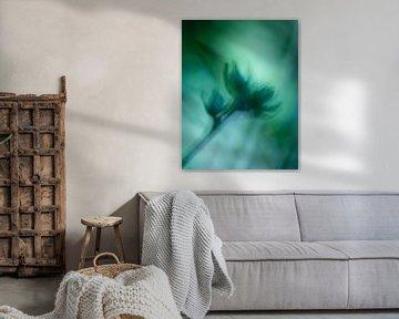 Aquarel in groen van Kati van Helden