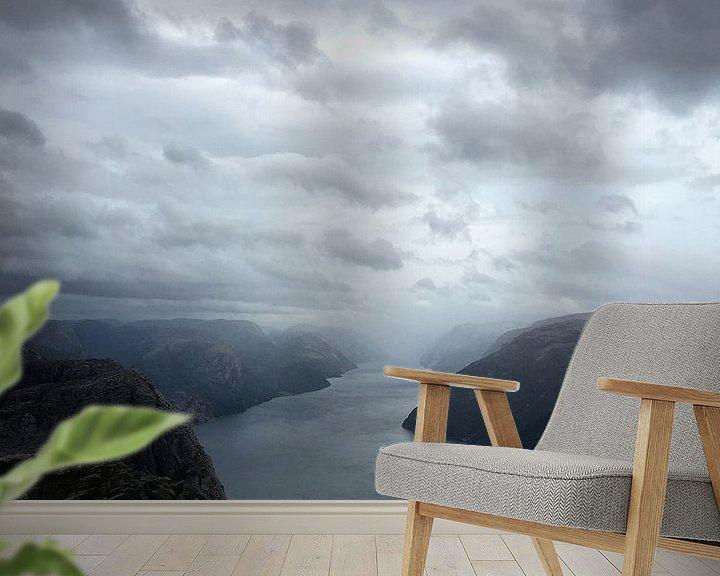 Sfeerimpressie behang: Lysefjord van SuperB Design