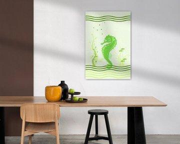 Seepferdchen - grün