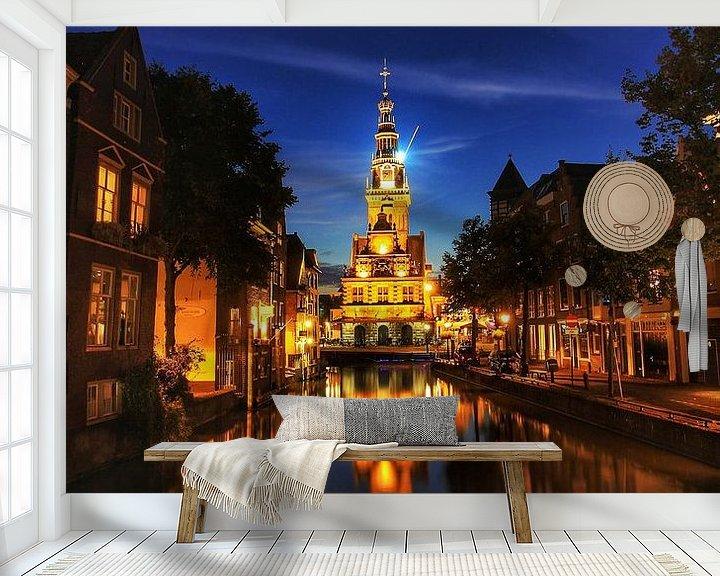 Sfeerimpressie behang: Waagtoren Alkmaar van Maurice Hoogeboom
