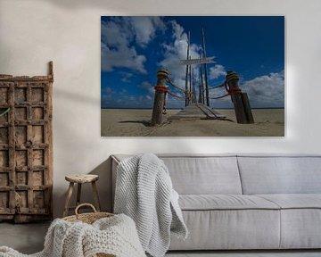 Steiger van het Waddenveer op Texel van Wim van der Geest
