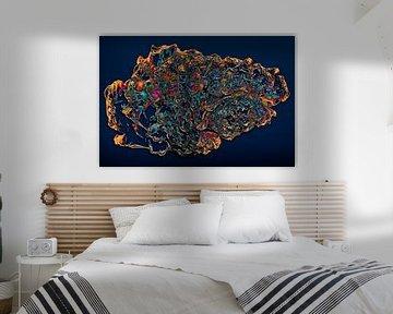 Abstractie - Beweging - #001 (nacht versie) van Peter Baak