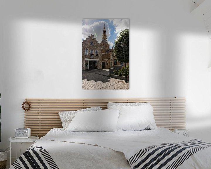 Sfeerimpressie: Straatje richting Stadhuis in Zierikzee van Charlene van Koesveld