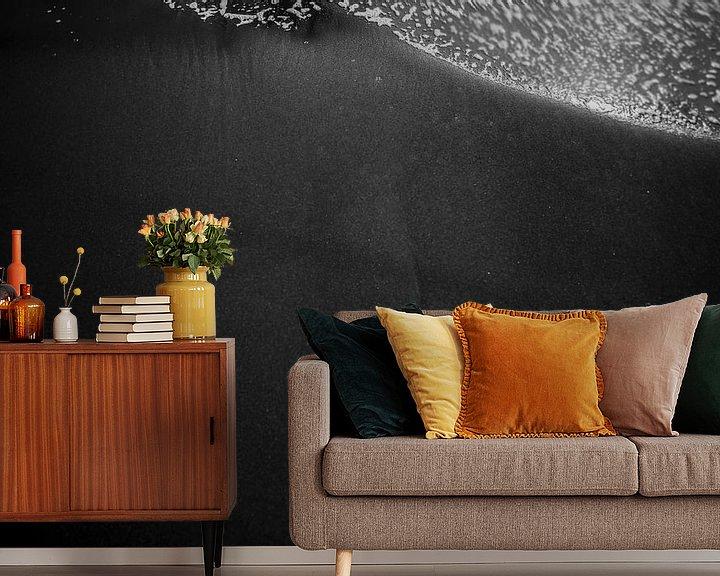 Sfeerimpressie behang: Vloeibaar van Yvonne Maljaars