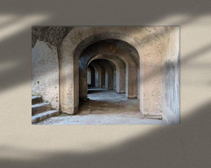Sfeerimpressie: Catacomben van het Amfitheather in Pompeii van Jaco Verheul