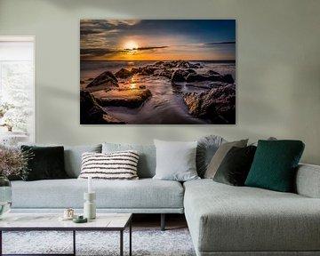 Pier vuurtoren Texel long exposure van Texel360Fotografie Richard Heerschap