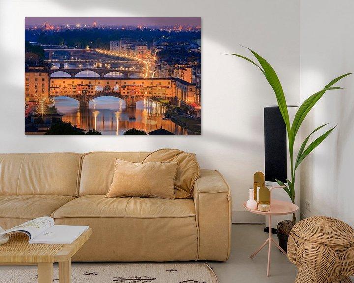 Sfeerimpressie: De Ponte Vecchio Brug, Florence, Italië van Henk Meijer Photography