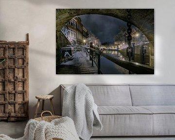 De Nacht van Leiden in de sneeuw. van Machiel Koolhaas