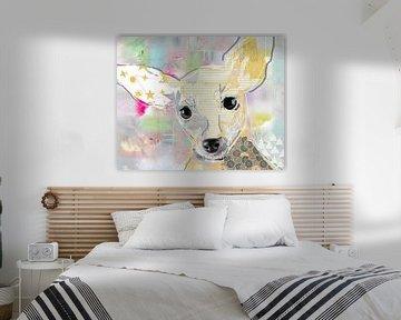 Chihuahua Collage von Green Nest