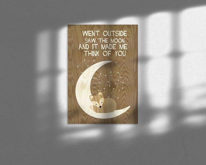 Beispiel: went outside saw the moon... von Green Nest