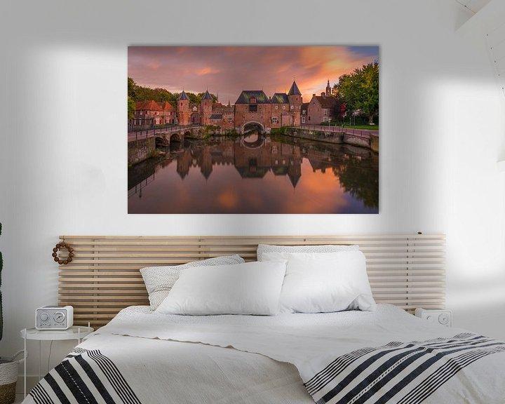 Sfeerimpressie: De Koppelpoort in Amersfoort in de avond - 8 van Tux Photography