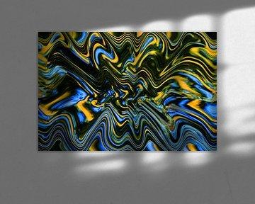 Psychedelisch water van Henriëtte van Golde