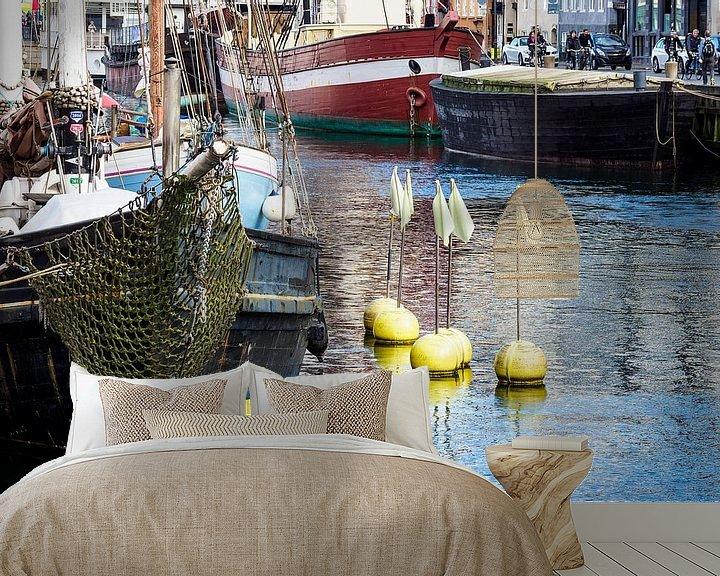 Impression: Nyhavn in der Stadt Kopenhagen, Dänemark sur Rico Ködder