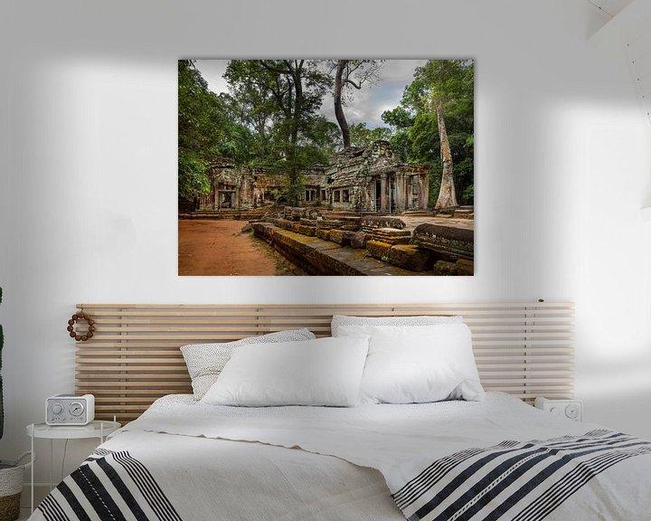 Sfeerimpressie: Ta Prohm Tempel, Siem Reap Cambodja van Maurits van Hout