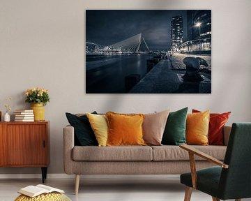 Nachtzicht op Rotterdam van Vincent Bierens Photography