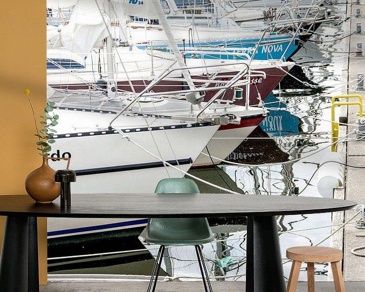 Sfeerimpressie behang: Zeilboten, zeiljachten, boten van Norbert Sülzner