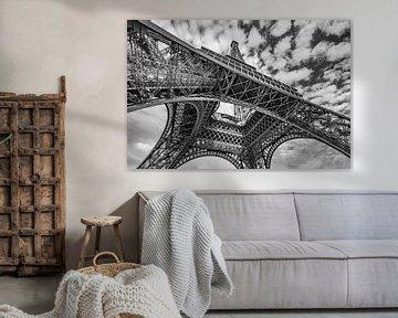 Eiffeltoren in zwart-wit sur Ronne Vinkx
