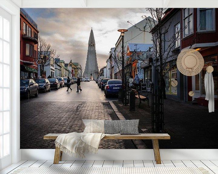 Beispiel fototapete: Reykjavik von Sjoerd Mouissie
