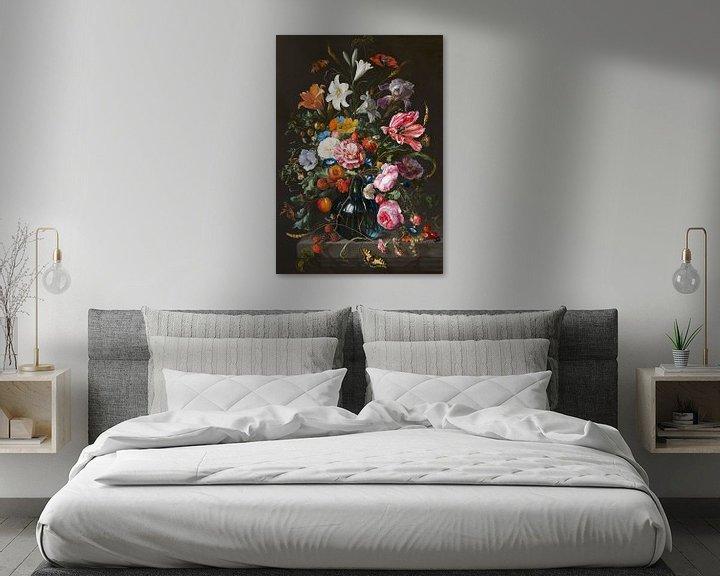 Beispiel: Stillleben mit Blumen in einer Vase von Jan Davidsz