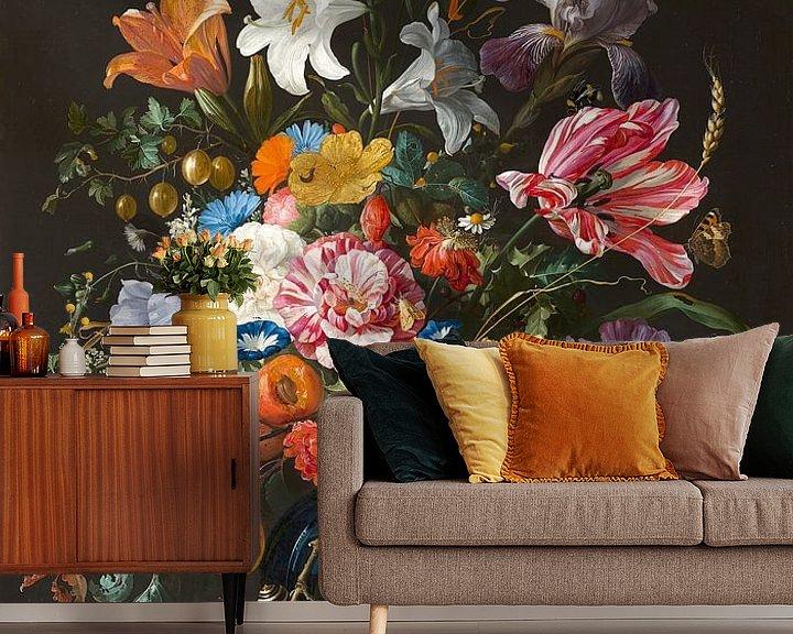 Beispiel fototapete: Stillleben mit Blumen in einer Vase von Jan Davidsz