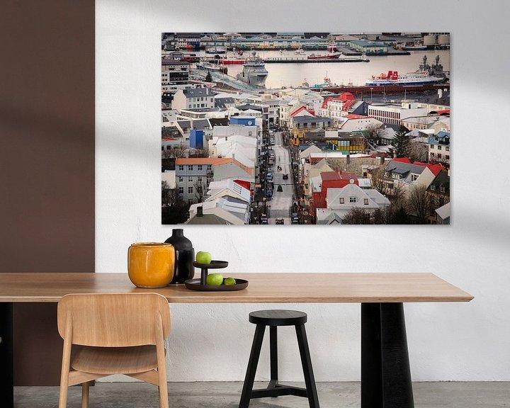 Sfeerimpressie: Zicht over Reykjavik van Sjoerd Mouissie