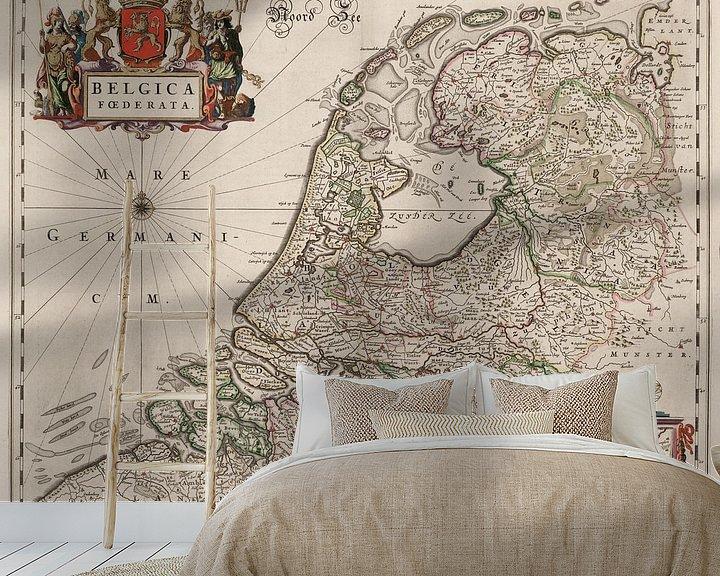 Sfeerimpressie behang: Kaart van Nederland
