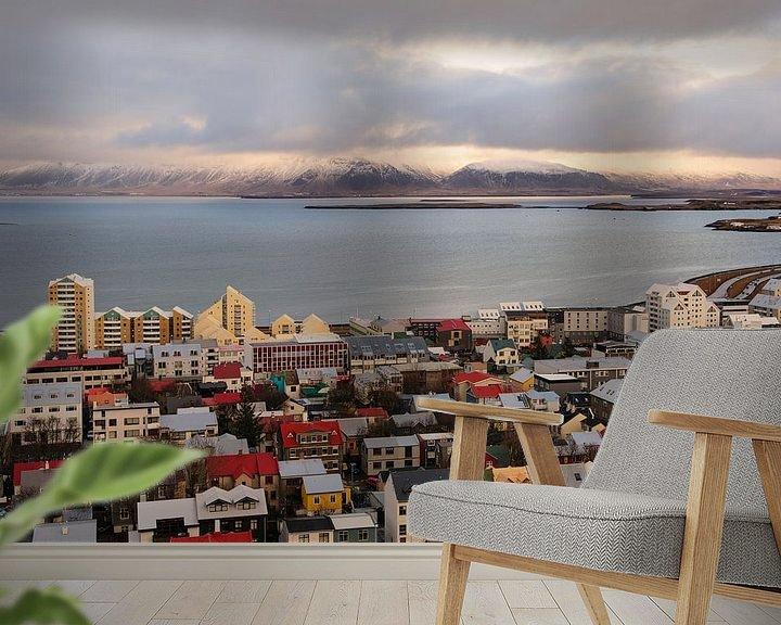 Beispiel fototapete: Blick über Reykjavik von Sjoerd Mouissie