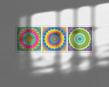 Regenbogen Mandalas 1 von Marion Tenbergen