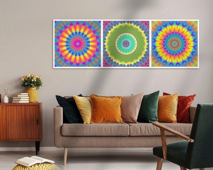 Sfeerimpressie: Regenboog Mandalas 3 van Marion Tenbergen