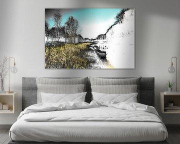 Gestörte Landschaft #010 von Peter Baak