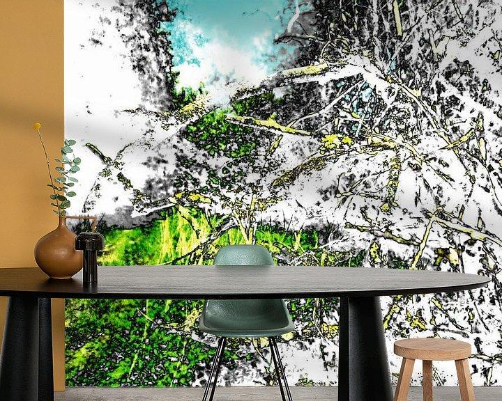 Beispiel fototapete: Gestörte Landschaft #013 von Peter Baak