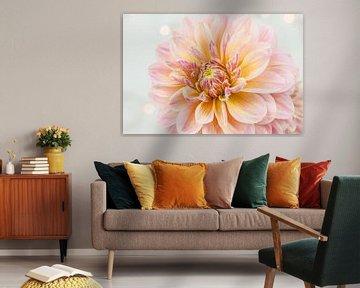 Roze dahlia von Nina van der Kleij