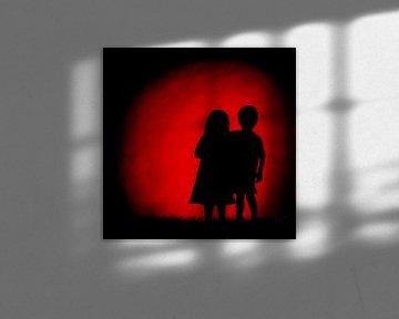 Rood, zwart, leven, warmte, liefde, hartstocht ... van Christoph Van Daele