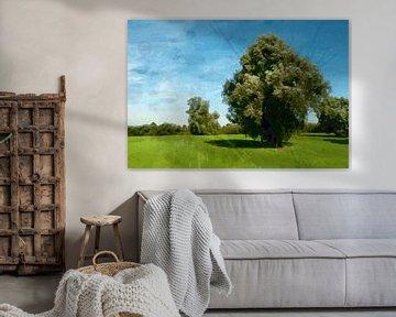 Landschap bij 's Hertogenbosch van Peter Baak
