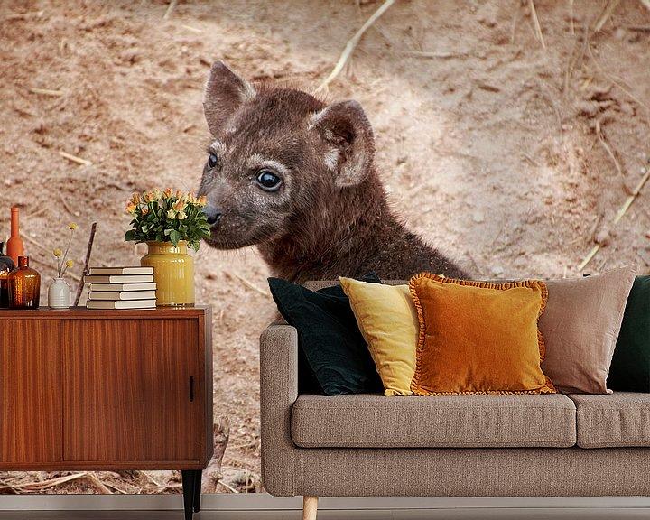 Impression: Hyène jeune. sur Paul Franke