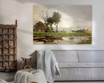 Herfst landschap -Jan Hendrik Weissenbruch -c-1870 von Nisangha Masselink