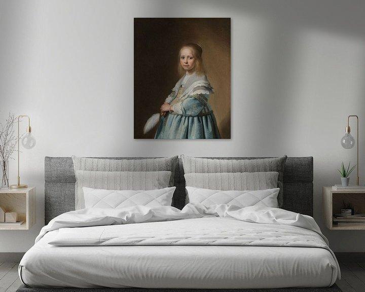 Sfeerimpressie: Portret van een meisje in het blauw, Johannes Cornelisz. Verspronck