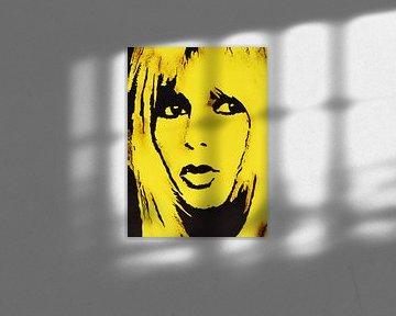"""Brigitte BARDOT """"Gelb"""" von Kathleen Artist Fine Art"""